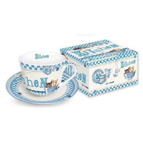 R2s - filiżanka ś˜niadaniowa z talerzykiem z porcelany