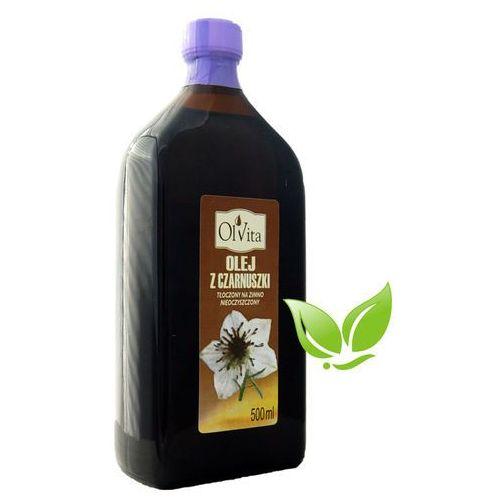 Olej z czarnuszki zimnotłoczony nieoczyszczony 500ml Olvita
