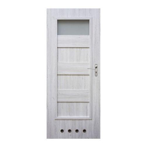 Drzwi z tulejami Winfloor Kastel 80 lewe silver