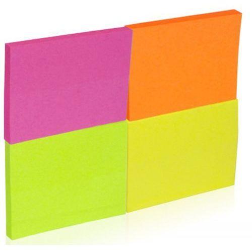 Bloczek samoprzylepny DONAU, notes, 38x51mm, 4x50 kart., neonowe (5901498007128)