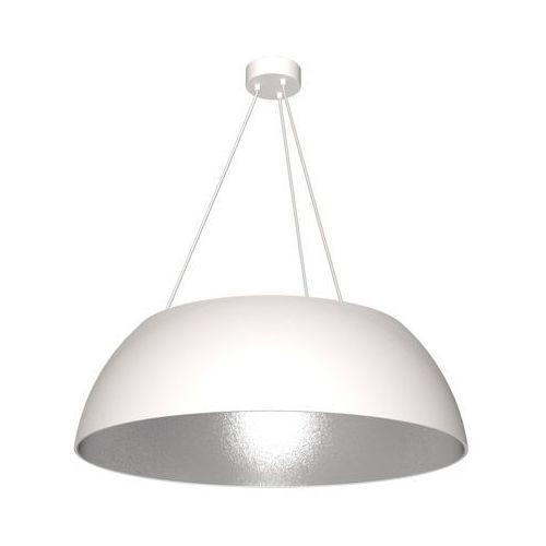 LAMPA wisząca MORGAN MLP 4477 Milagro zwieszana OPRAWA okrągła biała srebrna, MLP 4477