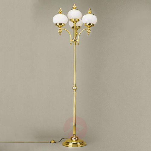 4-punktowa lampa stojąca delia, polerowany mosiądz marki Orion