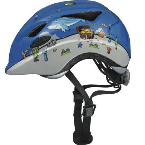 Abus anuky unisex – kask rowerowy dziecięcy anuky, niebieski, m (52–57 cm)