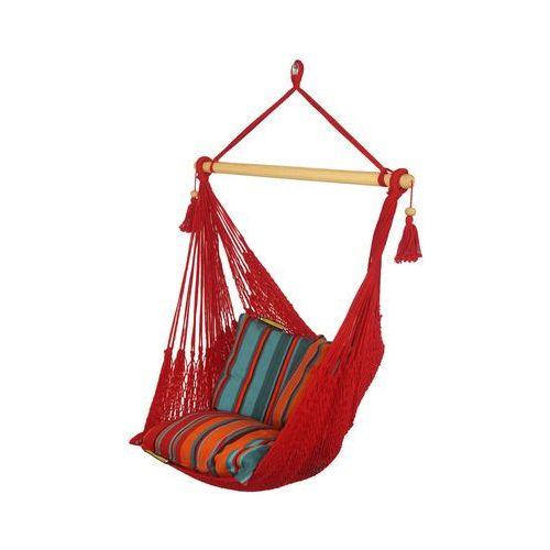 Fotel hamakowy sznurkowy - czerwony - AHC-8