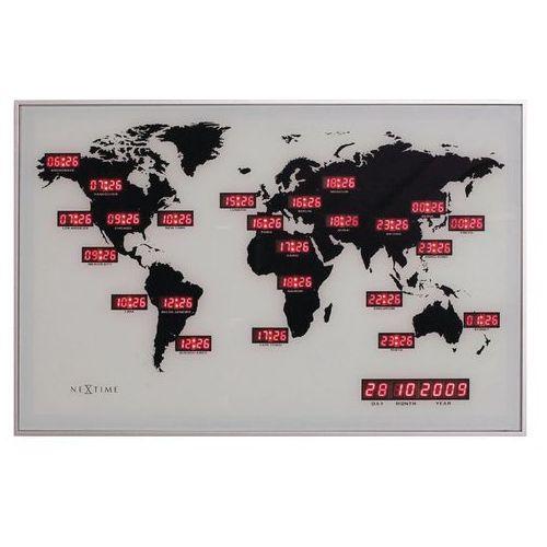 NeXtime - zegar ścienny World Time Digit