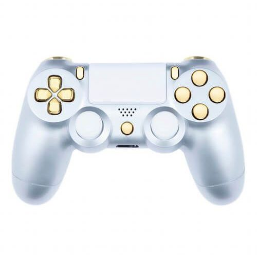 Custom controllers Playstation 4 custom controller - gloss silver & gold