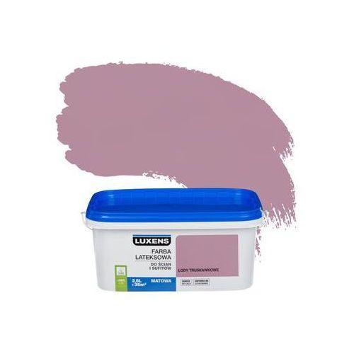 Farba wewnętrzna do ścian i sufitów emulsja 2.5 l lody truskawkowe marki Luxens
