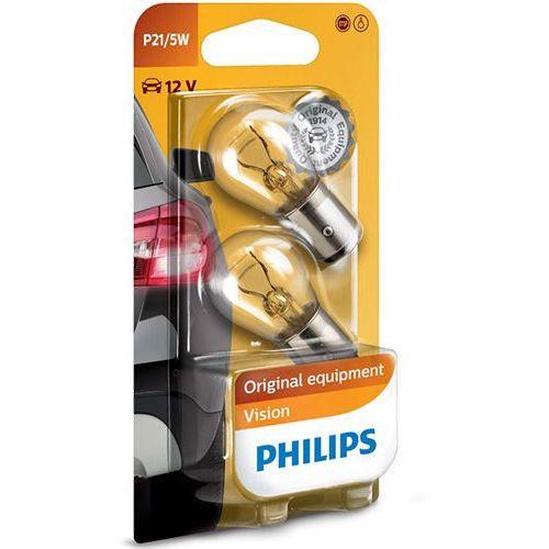 Żarówki Philips® P21/5W Vision   12V 5/21W BAY15d   Blister 2 szt. (8711500055453)
