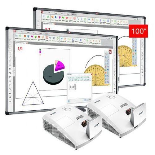 Avtek Zestaw: 2 x tt-board 100 pro + projektor vivitek d757wt - aktywna tablica