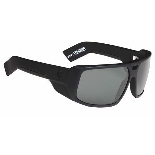 Okulary słoneczne touring polarized soft matte black-happy grey green polar marki Spy