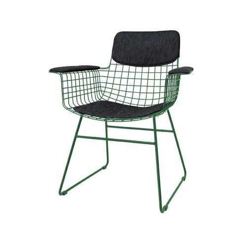 HK Living Zestaw COMFORT czarny do krzesła metalowego WIRE z podłokietnikami TAA1284 (8718921006217)
