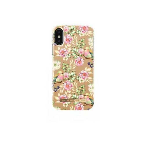 IDEAL FASHION CASE ETUI OBUDOWA IPHONE X (CHAMPAGNE BIRDS), IDFCS17-I8-65