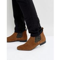 chelsea boots suede in tan suede - tan, Silver street