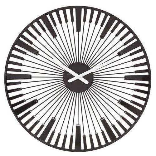 Zegar ścienny piano czarny marki Koziol