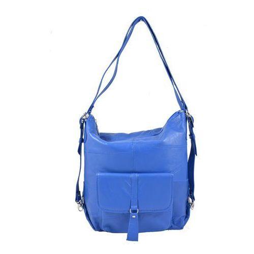 Shopper bag 2w1 niebieski i marki Milskór
