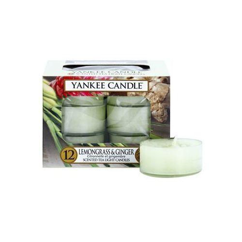 Yankee Candle Lemongrass & Ginger świeczka typu tealight 12 x 9,8 g + do każdego zamówienia upominek.