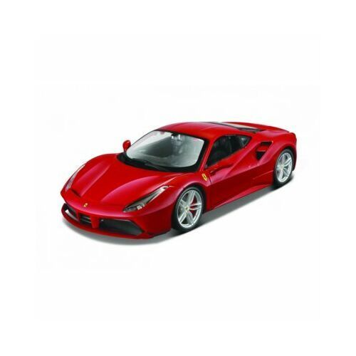 Model metalowy ferrari 488 gtb czerwony 1:24 do skladania marki Maisto