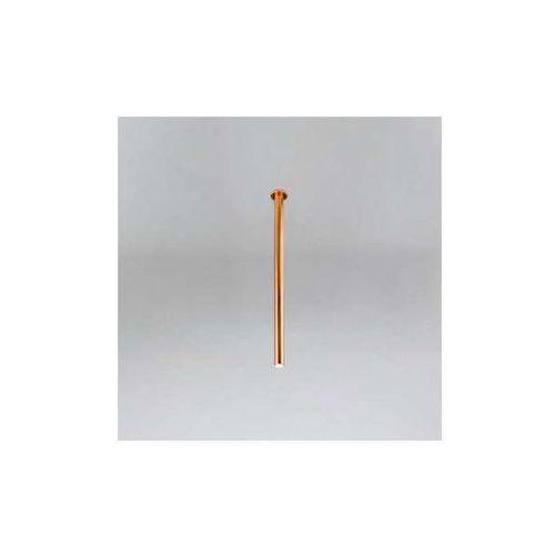 Podtynkowa LAMPA sufitowa ALHA T 9000/G9/1200/MI Shilo minimalistyczna OPRAWA do zabudowy sopel tuba miedź