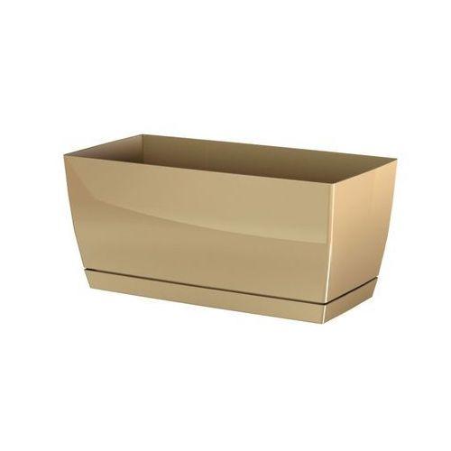Prosperplast Plastikowa skrzynka Coubi Case z podstawką kawowy, 24 cm, 24 cm