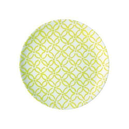 Guzzini - Tiffany - Talerz deserowy Le Maioliche, żółty - żółty