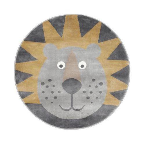 Agnella Dywan dziecięcy leon szaro-złoty okrągły śr. 100 cm (5901760185158)