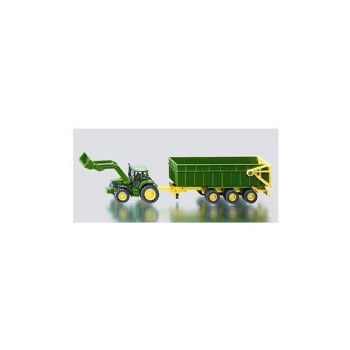 Traktor john deere z przyczepą,ład. marki Siku