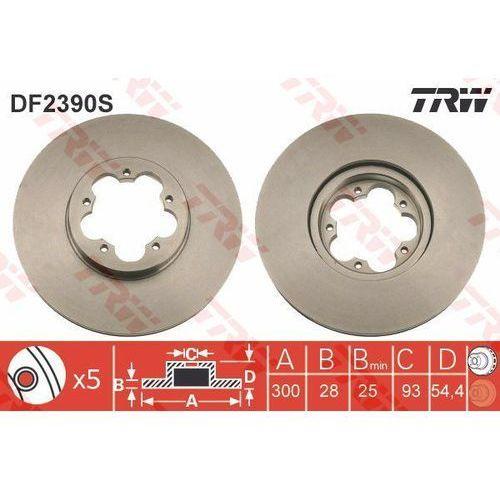 Trw Tarcza ham df2390s ford transit 2.2tdci 06-, 2.4tdci 06-, 3.2tdci 08- (3322937957033)