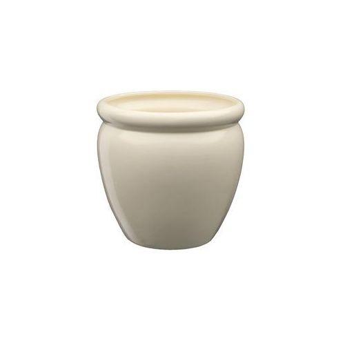 Eko-ceramika Doniczka ceramiczna 22 cm beżowa muza 4 j10