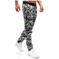 Spodnie męskie dresowe joggery moro-szare Denley 55025, dresowe