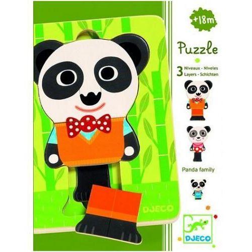 Djeco Puzzle 3 warstwowe rodzina pandy dj01471 (3070900014718)