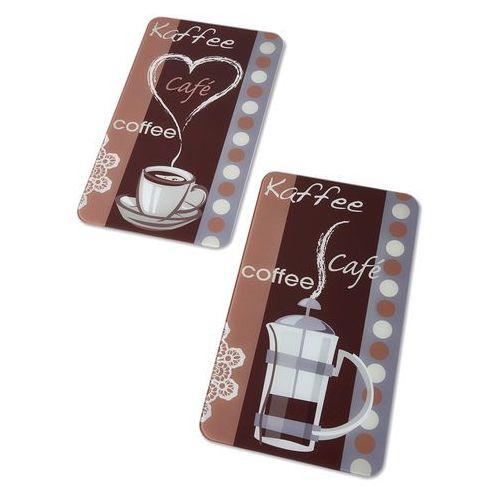 """Bonprix Płyty ochronne na kuchenkę """"zapach kawy"""" (2 części) brązowo-kolorowy"""
