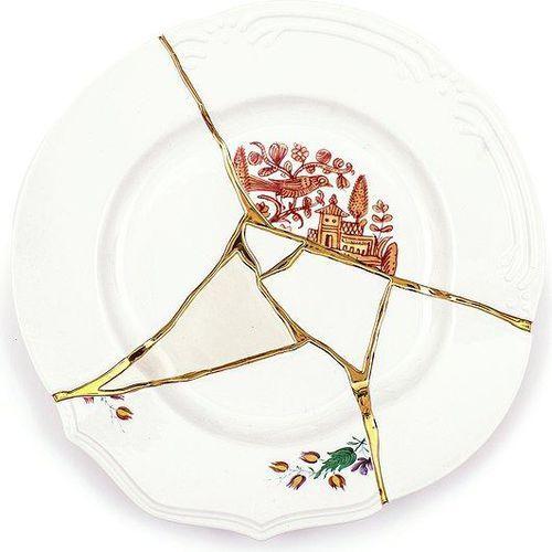 Talerz obiadowy kintsugi 1 marki Seletti
