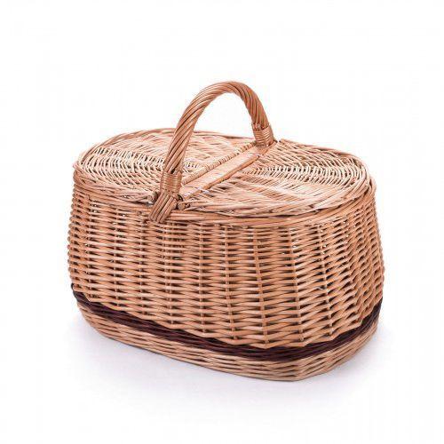 Piknik bagażowy wiklinowy kosz marki Wyroby z wikliny pph jan wnuk