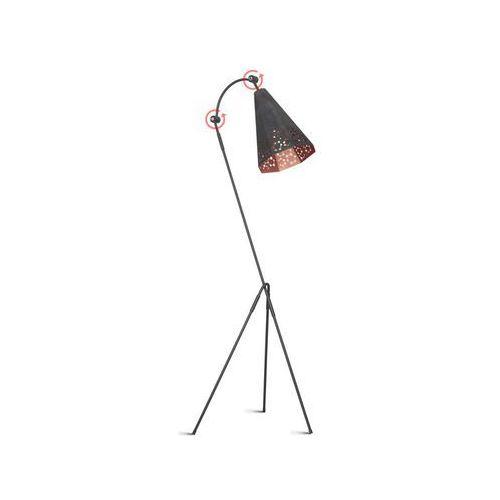 Lampa ażurowa metalowa podłogowa Aldex Atom mały 1x40W E27 white 767A/M