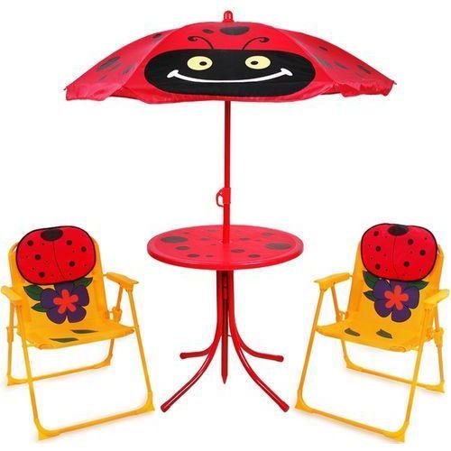 Zestaw mebli ogrodowych dla dzieci stół 2xkrzesło marki Wideshop