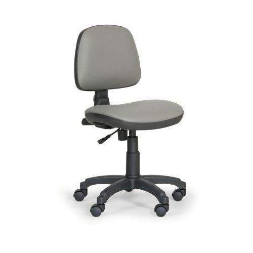 Krzesła robocze milano bez podłokietników - stały kontakt, szary marki Euroseat