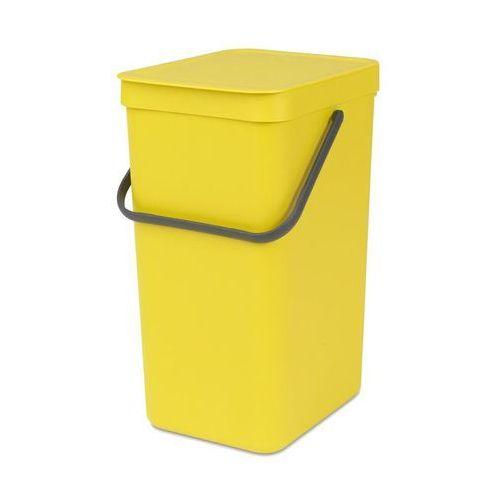 Kosz do segregacji odpadów Sort & Go 16 l żółty, 109867