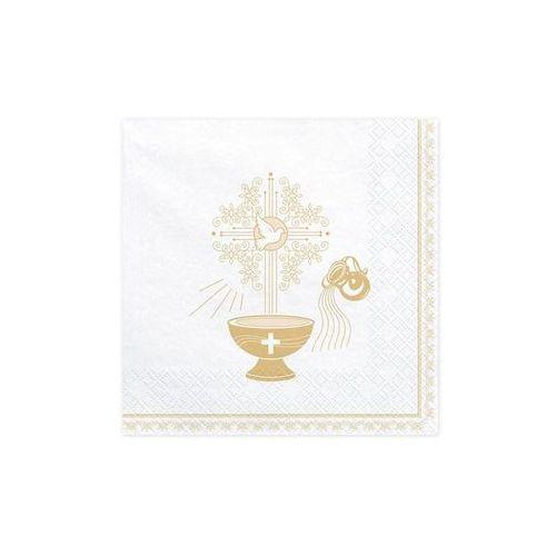 Party deco Serwetki chrzest święty 3 warst. 33x33 białe 20 szt