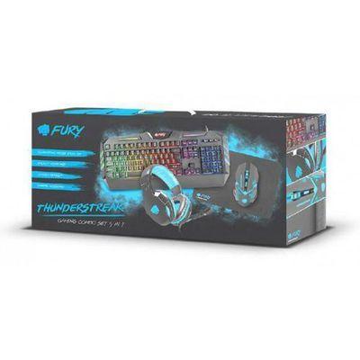 FURY Zestaw Klawiatura + Słuchawki stereo + Mysz optyczna + Podkładka