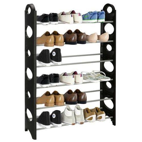 Regał na buty z metalowymi 6 półkami szafka czarno-szara marki Springos