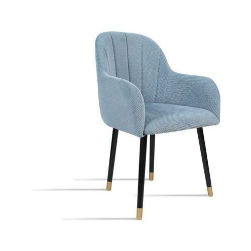 Krzesło BESSO niebieski/ noga czarny gold/ LU2782, kolor niebieski
