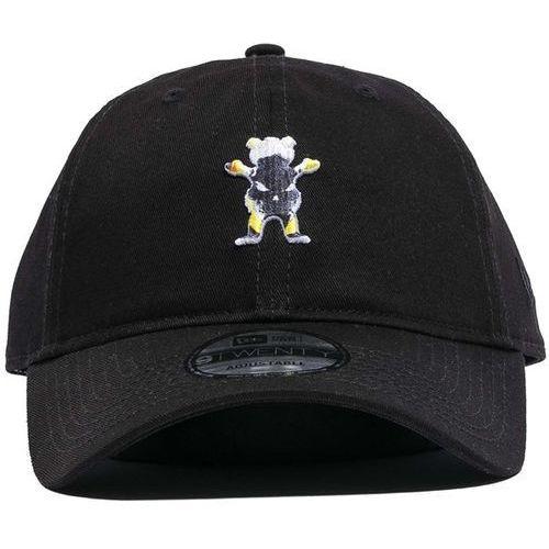 czapka z daszkiem GRIZZLY - Grizzly X Ghost Rider Dad Hat Black (BLACK) rozmiar: O/S, kolor czarny