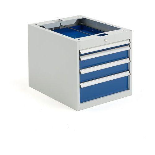 Szafka narzędziowa SOLID, do stołu roboczego, 4 szuflady, 540x535x670 mm