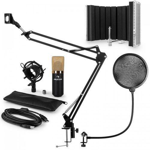 Mic-900bg usb zestaw v5 mikrofon pojemnościowy pop filtr ramię sterujące zł marki Auna