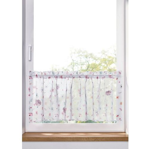 Zazdrostka z cyfrowym nadrukiem w kwiaty z efektem 3d biało-kolorowy marki Bonprix