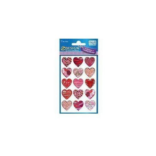 Avery zweckform Naklejki foliowe - czerwono różowe serca