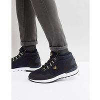 Armani Jeans Logo Lace Up Boots in Navy - Navy