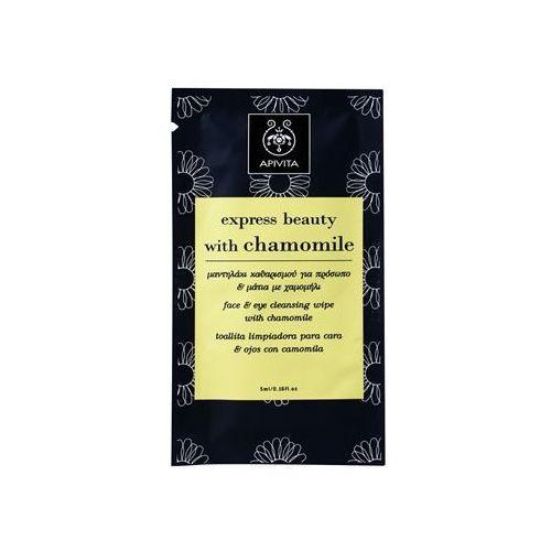 express beauty chamomile husteczki do demakijażu do twarzy i okolic oczu 5 ml marki Apivita