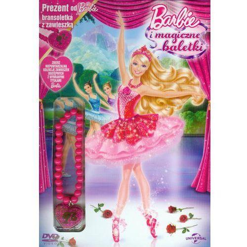 Barbie i magiczne baletki + bransoletka z zawieszką