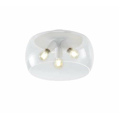 Trio Valente 600600331 plafon lampa sufitowa 3x60W E27 biały/transparentny (4017807467352)